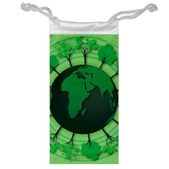 Earth Forest Forestry Lush Green Jewelry Bag by BangZart