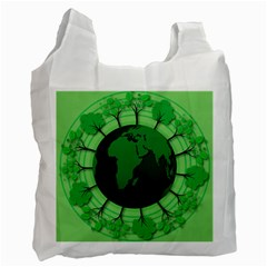 Earth Forest Forestry Lush Green Recycle Bag (one Side) by BangZart