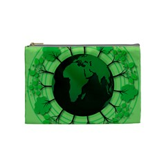Earth Forest Forestry Lush Green Cosmetic Bag (medium)  by BangZart