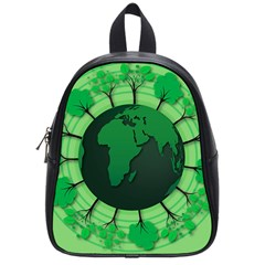 Earth Forest Forestry Lush Green School Bag (small) by BangZart