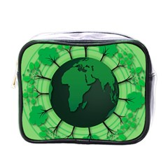 Earth Forest Forestry Lush Green Mini Toiletries Bags by BangZart