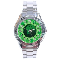 Earth Forest Forestry Lush Green Stainless Steel Analogue Watch by BangZart