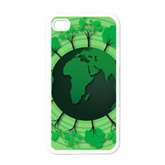 Earth Forest Forestry Lush Green Apple Iphone 4 Case (white) by BangZart