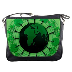 Earth Forest Forestry Lush Green Messenger Bags by BangZart