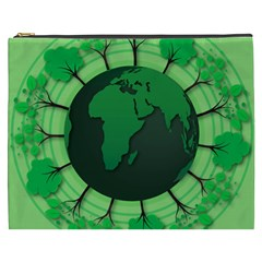 Earth Forest Forestry Lush Green Cosmetic Bag (xxxl)  by BangZart