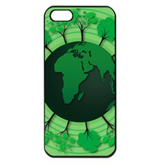 Earth Forest Forestry Lush Green Apple Iphone 5 Seamless Case (black) by BangZart