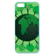 Earth Forest Forestry Lush Green Apple Seamless Iphone 5 Case (color) by BangZart