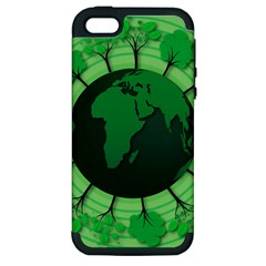 Earth Forest Forestry Lush Green Apple Iphone 5 Hardshell Case (pc+silicone) by BangZart