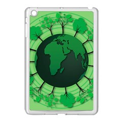 Earth Forest Forestry Lush Green Apple Ipad Mini Case (white) by BangZart