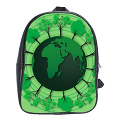 Earth Forest Forestry Lush Green School Bag (xl) by BangZart