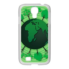 Earth Forest Forestry Lush Green Samsung Galaxy S4 I9500/ I9505 Case (white)