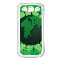 Earth Forest Forestry Lush Green Samsung Galaxy S3 Back Case (white) by BangZart