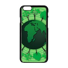 Earth Forest Forestry Lush Green Apple Iphone 6/6s Black Enamel Case by BangZart