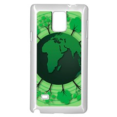Earth Forest Forestry Lush Green Samsung Galaxy Note 4 Case (white) by BangZart