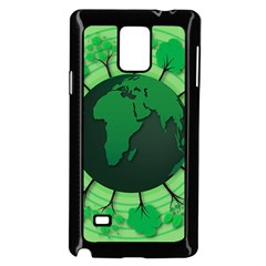 Earth Forest Forestry Lush Green Samsung Galaxy Note 4 Case (black) by BangZart
