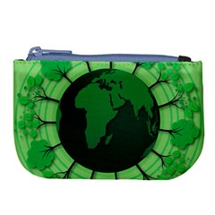 Earth Forest Forestry Lush Green Large Coin Purse by BangZart