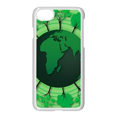 Earth Forest Forestry Lush Green Apple Iphone 8 Seamless Case (white) by BangZart