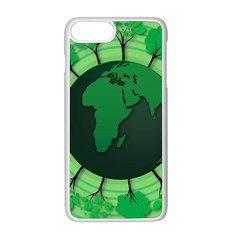 Earth Forest Forestry Lush Green Apple Iphone 8 Plus Seamless Case (white) by BangZart