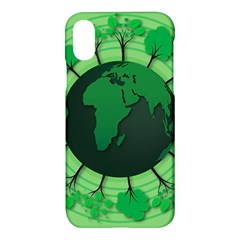 Earth Forest Forestry Lush Green Apple Iphone X Hardshell Case by BangZart