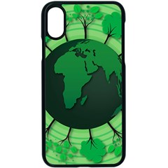 Earth Forest Forestry Lush Green Apple Iphone X Seamless Case (black) by BangZart
