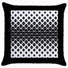 Triangle Pattern Background Throw Pillow Case (black)