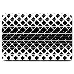 Triangle Pattern Background Large Doormat