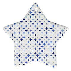Star Curved Background Blue Star Ornament (two Sides)