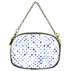 Star Curved Background Blue Chain Purses (two Sides)