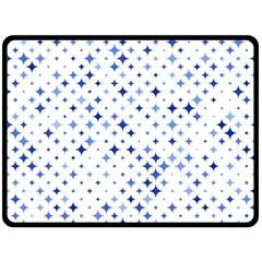 Star Curved Background Blue Fleece Blanket (large)