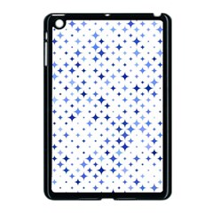 Star Curved Background Blue Apple Ipad Mini Case (black) by BangZart
