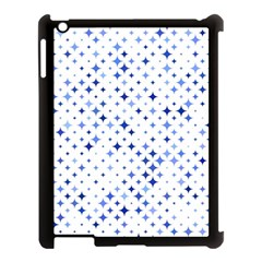 Star Curved Background Blue Apple Ipad 3/4 Case (black)