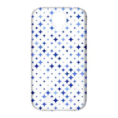 Star Curved Background Blue Samsung Galaxy S4 Classic Hardshell Case (pc+silicone)
