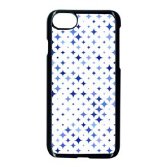 Star Curved Background Blue Apple Iphone 8 Seamless Case (black)