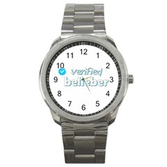 Verified Belieber Sport Metal Watch by Valentinaart