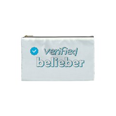Verified Belieber Cosmetic Bag (small)  by Valentinaart