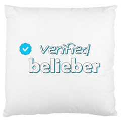 Verified Belieber Standard Flano Cushion Case (one Side) by Valentinaart