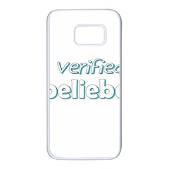 Verified Belieber Samsung Galaxy S7 White Seamless Case by Valentinaart