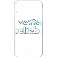 Verified Belieber Apple Iphone X Seamless Case (white)