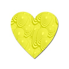 Yellow Oval Ellipse Egg Elliptical Heart Magnet by BangZart