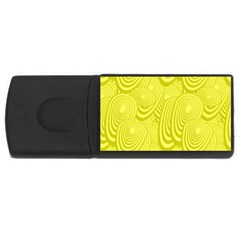 Yellow Oval Ellipse Egg Elliptical Rectangular Usb Flash Drive