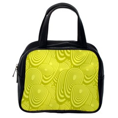 Yellow Oval Ellipse Egg Elliptical Classic Handbags (one Side)
