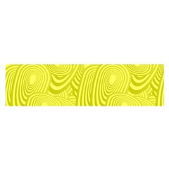 Yellow Oval Ellipse Egg Elliptical Satin Scarf (oblong)
