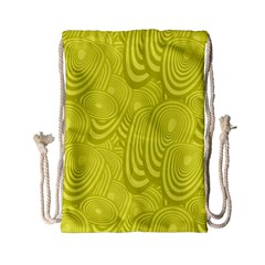 Yellow Oval Ellipse Egg Elliptical Drawstring Bag (small) by BangZart