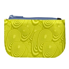Yellow Oval Ellipse Egg Elliptical Large Coin Purse