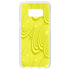 Yellow Oval Ellipse Egg Elliptical Samsung Galaxy S8 White Seamless Case