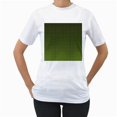 Pattern Halftone Background Dot Women s T-shirt (white) (two Sided) by BangZart
