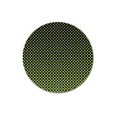 Pattern Halftone Background Dot Magnet 3  (round)