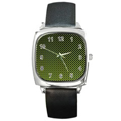 Pattern Halftone Background Dot Square Metal Watch