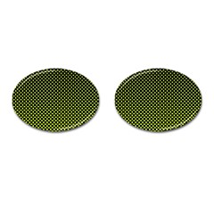 Pattern Halftone Background Dot Cufflinks (oval)