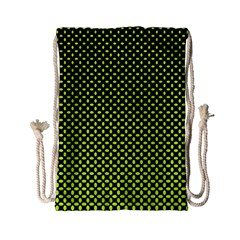 Pattern Halftone Background Dot Drawstring Bag (small)